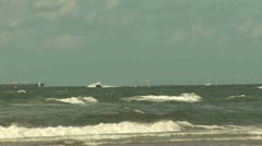 Sea sight, The Netherlands Stock Footage