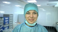 Woman smiling in the laboratory Stock Footage
