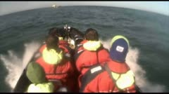 Rib Boat, North Sea Stock Footage