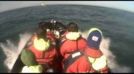 Stock Video Footage of Rib Boat, North Sea
