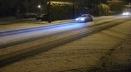 Snowstorm at Night 2 Stock Footage