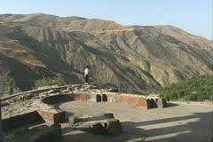 Armenia ruins of a palace at Garni Stock Footage