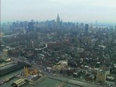 Stock Video Footage of Aerial view of Manhattan from the Hudson River
