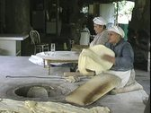Armenia woman preparing to cook bread Stock Footage