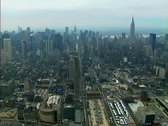 Stock Video Footage of Midtown Manhattan from the west including the Empire State Building