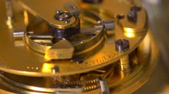 Close up of an Earnshaw watch movement - seamless loop. Slow motion Stock Footage