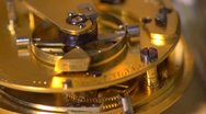 Stock Video Footage of Close up of an Earnshaw watch movement - seamless loop. Slow motion