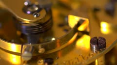 Extreme close up of an Earnshaw watch movement - seamless loop. Slow motion Stock Footage