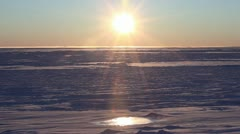 Thawing Arctic, Steaming Pool, Bering Sea, Nome, Alaska Stock Footage