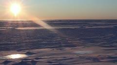 Arctic Sun, Bering Sea Ice, Alaska Stock Footage