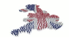 United Kingdom map made by people Stock Footage