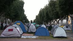 Tel Aviv Tent protest 8 Stock Footage