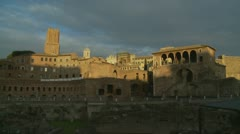 Ancient Rome Shopping Trajan's Market (three) Stock Footage