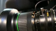 Stock Video Footage of Television Camera Lens