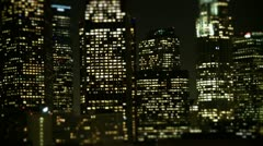 Tilt Shift - Downtown Los Angeles Skyline - stock footage