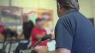 Middle aged work out room Stock Footage
