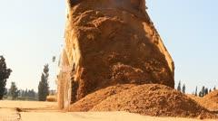 Heavy vehicles Heavy mining soil loader road vehicles truck construction Stock Footage