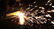 Stock Video Footage of cutting metal with torch