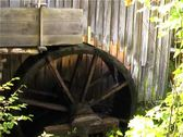 Stock Video Footage of Water Mill at Cades Cove in the Smoky Mountains Side View