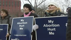 Pro-life supporters Stock Footage
