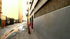 City Street Alley w/ Man Stock Footage
