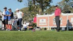 PGA Golfer Ernie Els Stock Footage