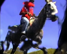 Lesotho Horsemen walking past Underwater Camera GFSD Stock Footage