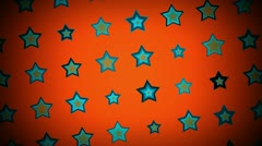 Retro Star Rotating Background - stock footage