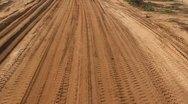 Heavy vehicles Heavy mining soil loader road vehicles truck digging Asphalt Stock Footage