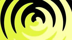 Spiral Sunbeams Loop14 yellow Stock Footage
