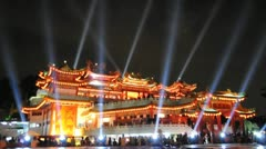 Light Music Show at Thean Hou Temple Stock Footage