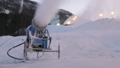 Stock Video Footage of Snow cannons