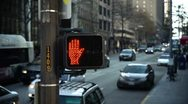Stock Video Footage of Crosswalk hand