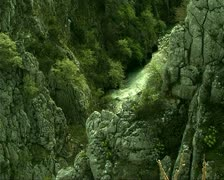 Stock Video Footage of River and cliffs