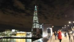 The Shard London Bridge - stock footage
