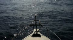 Ship POV roll on the waves in Ocean - stock footage