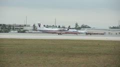 American Eagle regional flight Stock Footage