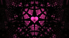 Fantastic purple heart with a rotating black lattice 720 Stock Footage
