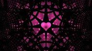 Fantastic purple heart with a rotating black lattice 720 Stock Footage