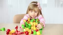 Little girl enjoys sweets Stock Footage