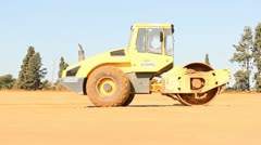 Heavy vehicles Heavy mining soil loader road vehicles truck construction Stock Footage