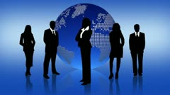 People Comunication in the Business World Stock Footage