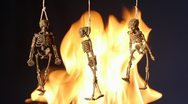 Halloween skeleton Stock Footage