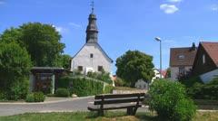 Village Church 01 Stock Footage