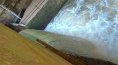 Lost River Cave Levee Waterfall Stock Footage
