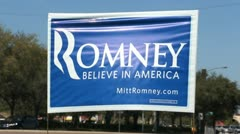 Romney Sign 02 Stock Footage
