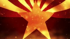 Arizona flag on fire , background for sports footage etc. Stock Footage