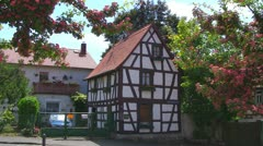 Village Half-Timbered House Stock Footage