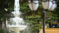 Fountain in the park - stock footage
