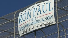 Ron Paul Sign 01 Stock Footage